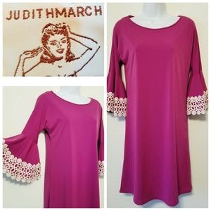 Anthro-Judith March Fushia Dress